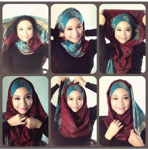tutorial hijab natasya 36 best images about hijab tutorial on pinterest simple
