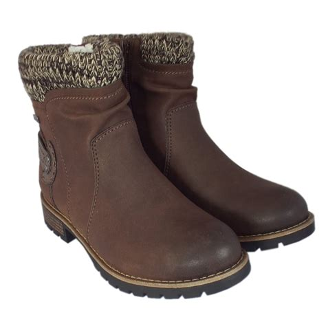 fosse mocca ankle boots with fleece lining