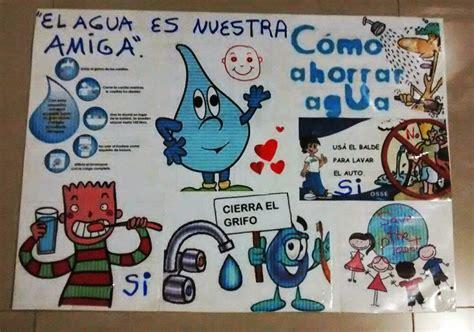 cartelera escolar sobre el agua propuesta intervencion comunidad kiwanis analisis