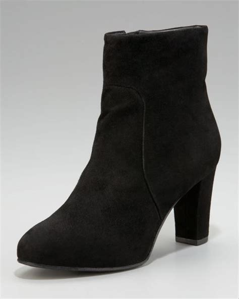 eileen fisher mid heel ankle boot in black lyst