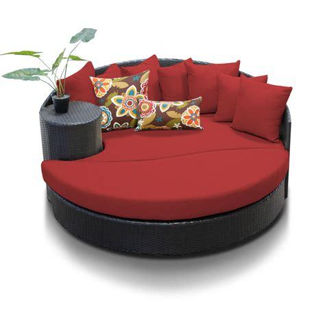 circular patio furniture tk classics newport circular sun bed outdoor wicker