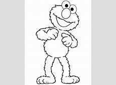 Sesame Street Elmo Coloring Pages - Coloring Home Elmo Face Coloring Page