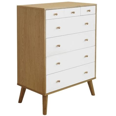Freedom Drawers by Oslo 7 Drawer Tallboy Oak White Aud 999 00 Freedom The
