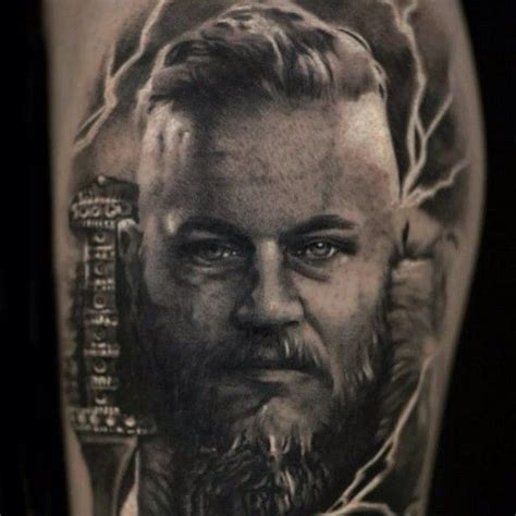 tv show tattoos ragnar from vikings the referance i screendumped from the
