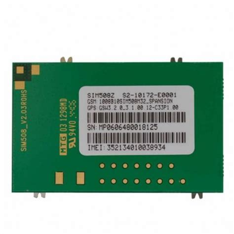 Modul Sim300c Include Antenna Socket Sim Card Connector Pigtail Sim508 Gsm Gprs Gps Module Include Antenna Sim Card