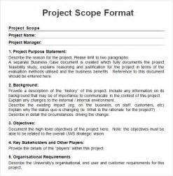 technical scope document template project 7 free for word pdf