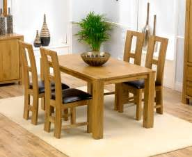 Oak Dining Tables And Chairs Sale Tempo Solid Oak Dining Table 150cm 4 Girona Chairs