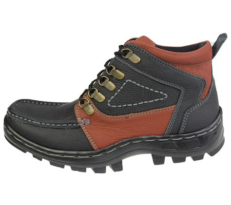 flat walking shoes mens boys mild leather comfort boots casual flat lace up