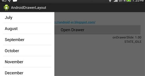 define layoutinflater in android android er exle of listfragment inside drawerlayout