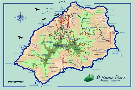 map of st island helena island info all about st helena in the