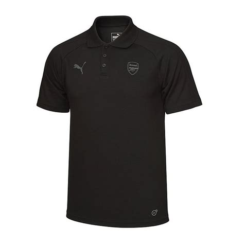T Shirt Casual Arsenal arsenal 17 18 black performance polo official store