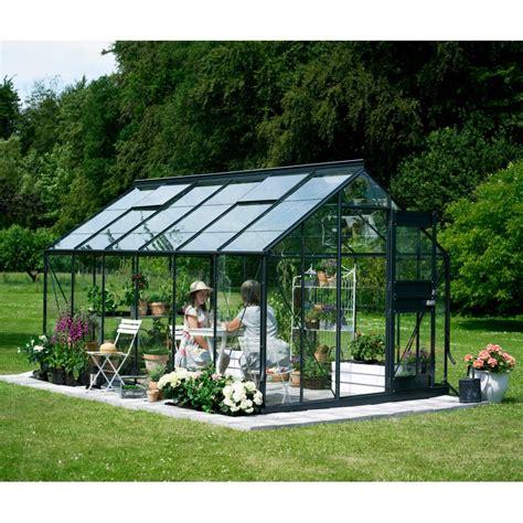 serre de jardin en promo promo serre de jardin 12 1m 178 anthracite et verre junior embase juliana
