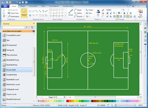 building design package conceptdraw sport field plans solution conceptdraw com