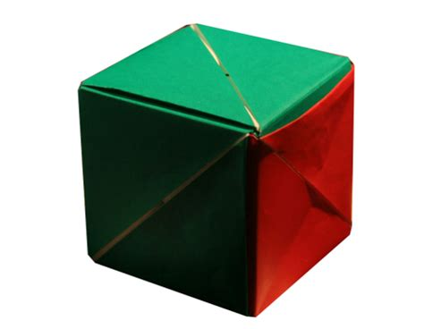 Magic Origami Cube - origami magic cube by valerie vann