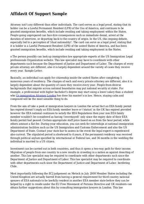Statement Of Support Letter