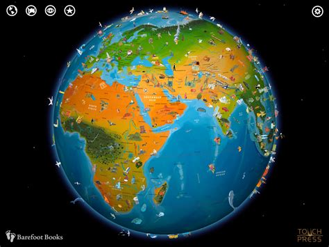world globe map barefoot world atlas a beautifully interactive globe applenappsapplenapps