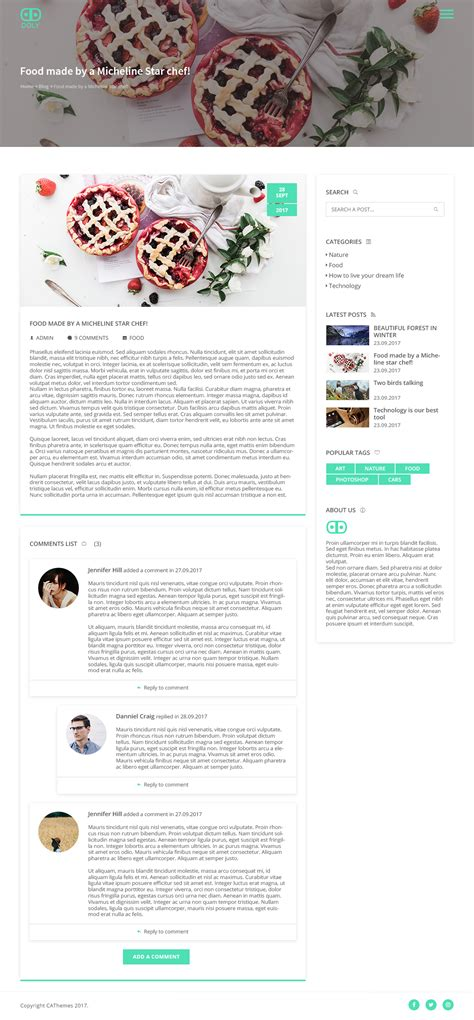 single post page template doly creative one page psd template by cathemes