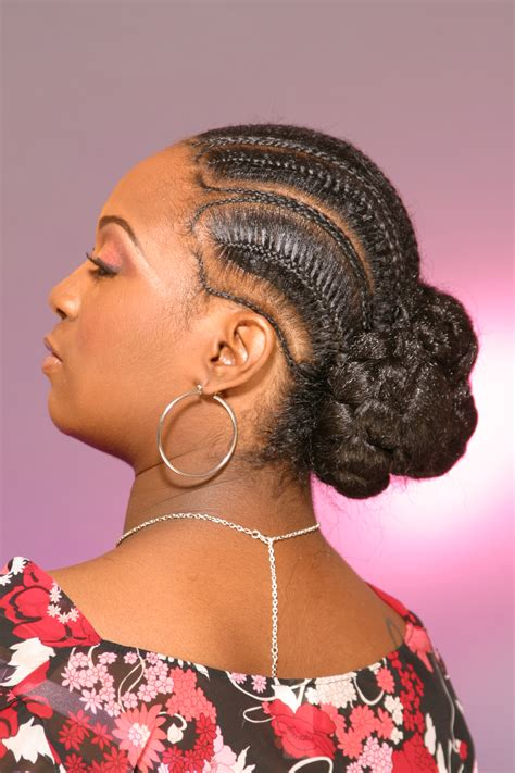 african fish style bolla hairstyle with braids afro coil