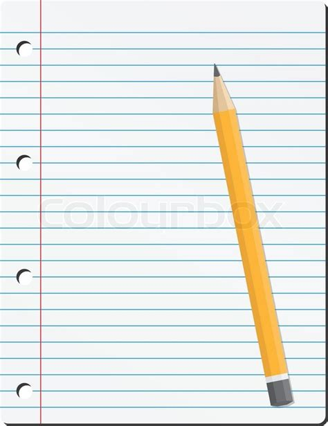 How To Make A Paper Pencil - vector paper and pencil stock vector colourbox