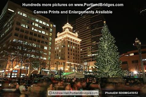 portland pioneer courthouse square christmas tree lighting