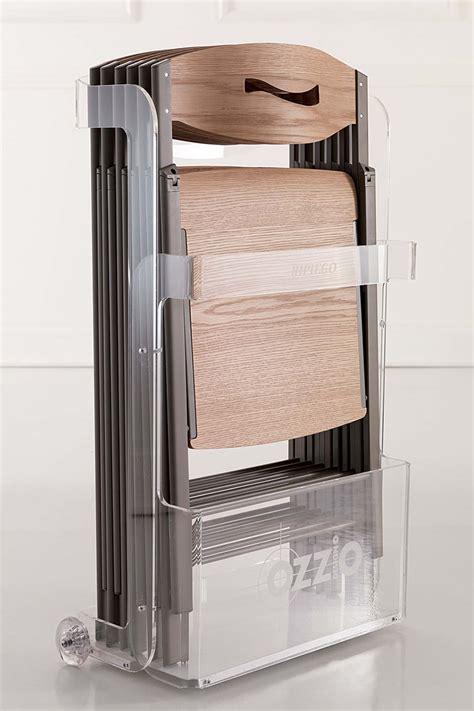 porta sedie pieghevoli ripiego w sedia pieghevole moderna in metallo seduta in