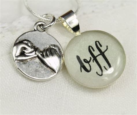 promise necklace bff necklace unique friendship