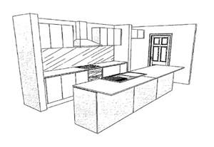 Easy kitchen drawing example layout 8 designs 28399 the executive