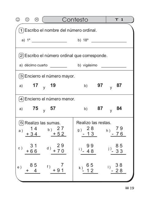 matematica segundo grado esslidesharenet gu 237 a de matem 225 ticas para segundo grado ejercicios