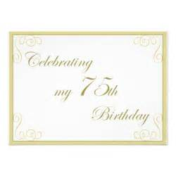 75th birthday invitation 5 quot x 7 quot invitation card zazzle