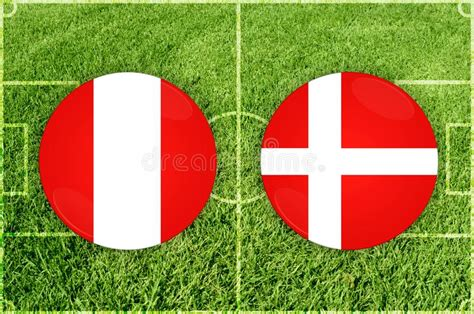 peru vs denmark peru vs denmark football match stock illustration