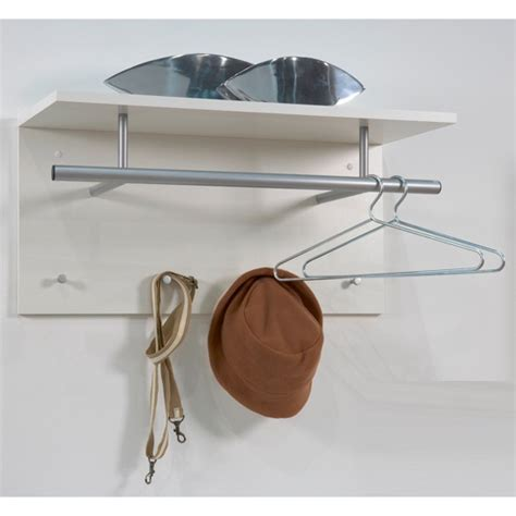 White Coat Rack Wall Mounted by Spot Wall Mounted Coat Rack In White With Shelf 15780