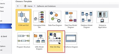 visio website map sitemap in visio