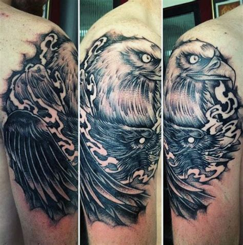 iron eagle tattoo 75 eagle tattoos for a soaring flight of designs