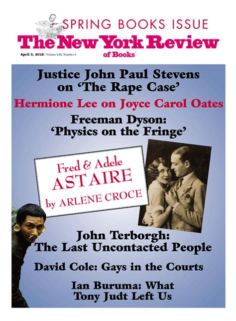 new york review of books table of contents april 5 2012 the new york review of