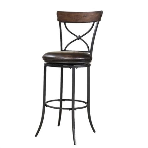 30 swivel bar stools with back hillsdale cameron 30 quot x back swivel bar stool in brown