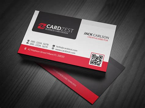 professional card templates modern professional business card template 187 cardzest