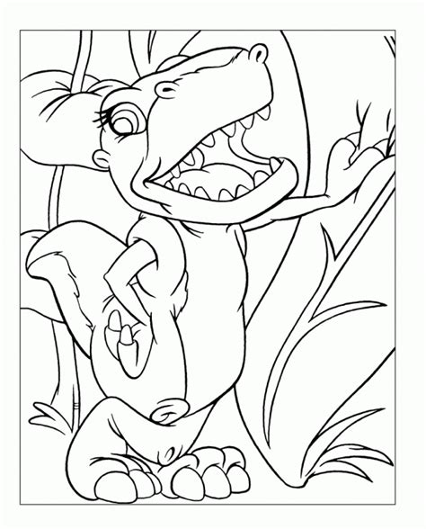 dinosaur land before time coloring home