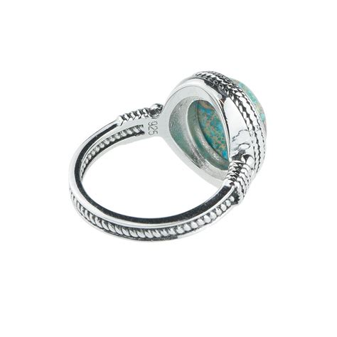 tilda sterling silver turquoise ring by rock n