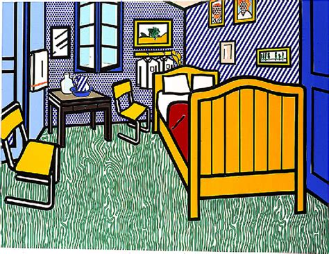 bedroom at arles bedroom at arles oil by roy lichtenstein 1923 1997