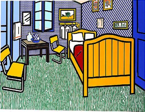 bedroom at arles bedroom at arles oil by roy lichtenstein 1923 1997 united states