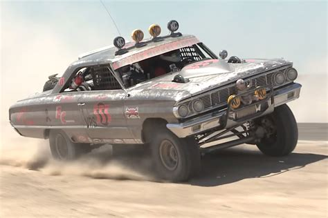 baja car video 1964 ford galaxie off road race car really roars