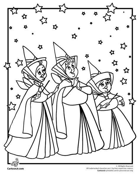 fairy godmother coloring pages sleeping beauty coloring pages disney s sleeping beauty
