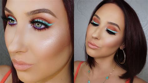 colorful eyeliner colorful eyeliner summer makeup tutorial
