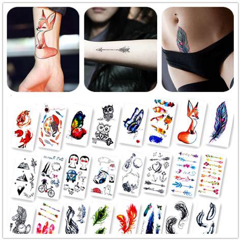 sticker tattoo bandung tato palsu temporary random model 20pcs multi color
