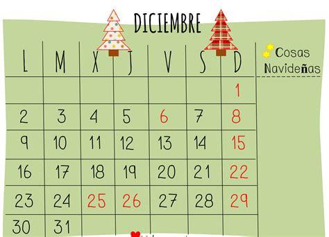 Calendario De Este Mes Parquesolblog Calendario Mes De Diciembre
