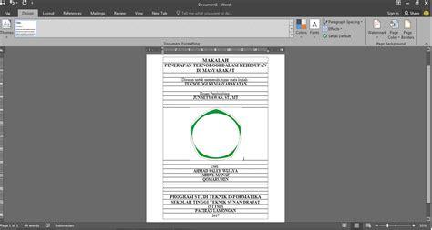 membuat makalah microsoft excel cara mudah dan praktis membuat cover makalah santri drajat