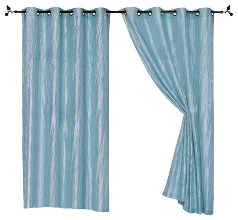 crushed satin curtains sherry crushed satin grommet window panel 84 quot 2 pack blue