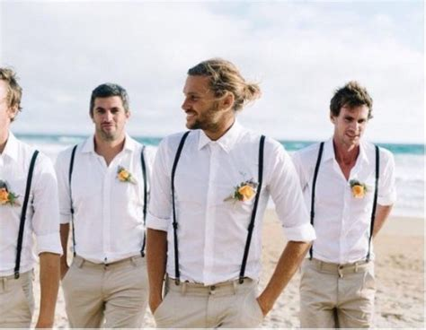 mens wedding attire with suspenders suitable groomsmen attire ideas for your wedding theme