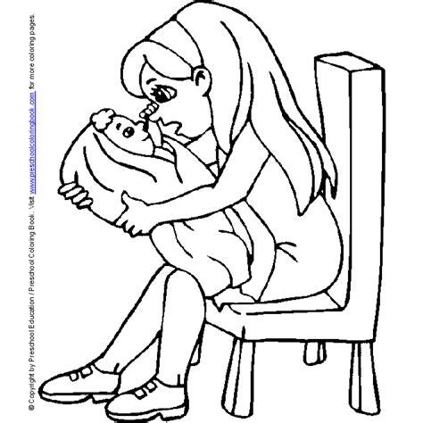www preschoolcoloringbook com new baby coloring page