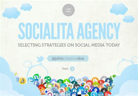 social networking free templates social networking powerpoint template free